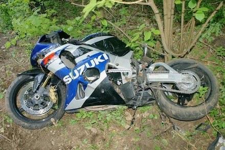 Motocykle wypadły z drogi /Policja