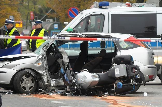 Motocykliści bardzo często giną na drogach /PAP