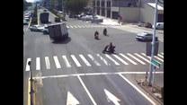 Motocyklista cudem uniknął wypadku. Tylko zobaczcie