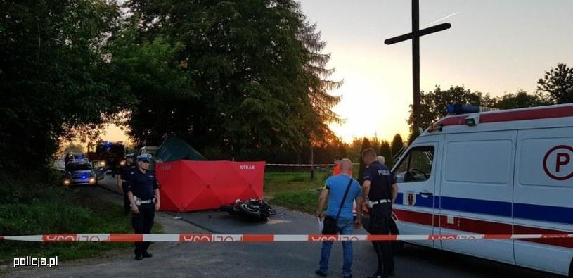 Motocyklista zginął na miejscu /