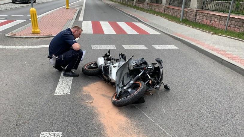 Motocyklista zginął na miejscu /Policja