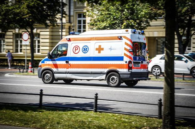 Motocyklista zmarł po wypadku /Jacek Dominski/ /Reporter