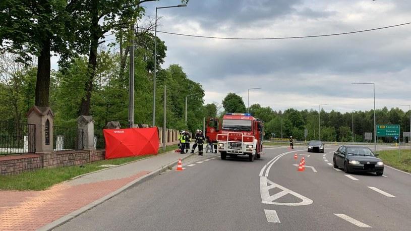 Motocyklistę wyrzuciło z zakrętu /Policja