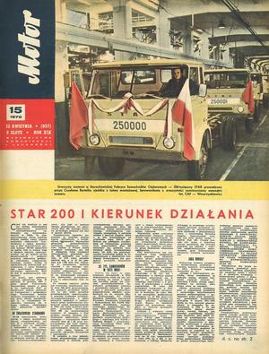 """""""Motor"""" nr 15 z 12 kwietnia 1970 r. /Motor"""