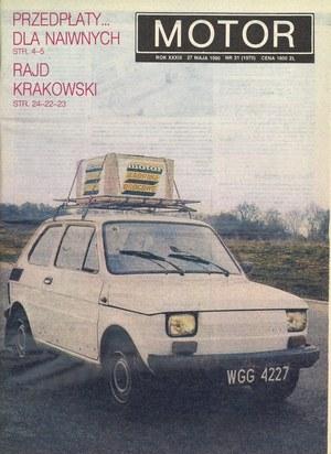 """""""Motor"""" nr 21 z 27 maja 1990 r. /Motor"""