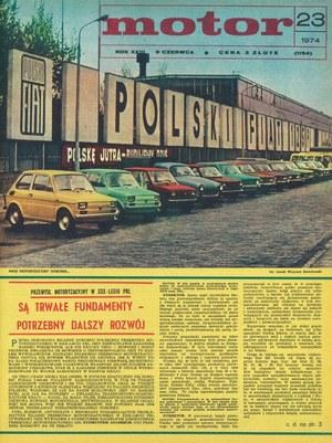 """Motor"" nr 23 z czerwca 1974 r. /Motor"