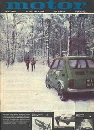 """""""Motor"""" nr 3 z 15 stycznia 1984 r. /Motor"""