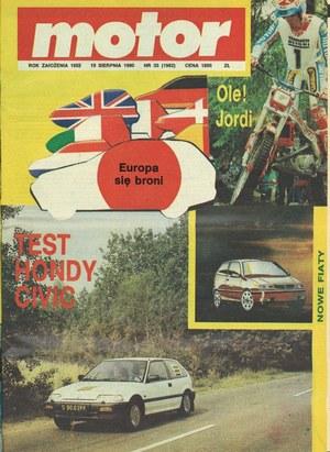 """""""Motor"""" nr 33 z 19 sierpnia 1990 roku /Motor"""