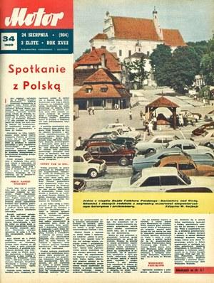 """""""Motor"""" nr 34 z 24 sierpnia 1969 r. /Motor"""