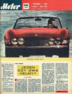"""Motor"" nr 36 z 7 września 1969 r. /Motor"