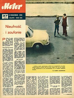 """Motor"" nr 37 z 13 września 1970 r. /Motor"