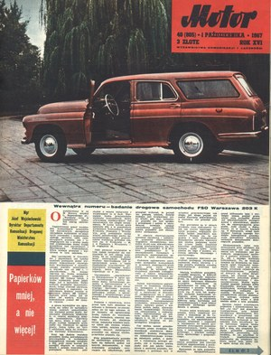 """""""Motor"""" nr 40 (805) z 1 października 1967 r. /Motor"""