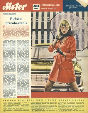 """""""Motor"""" nr 40 z 4 października 1970 r. /Motor"""