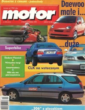 """""""Motor"""" nr 40 z 4 października 1997 r. /Motor"""