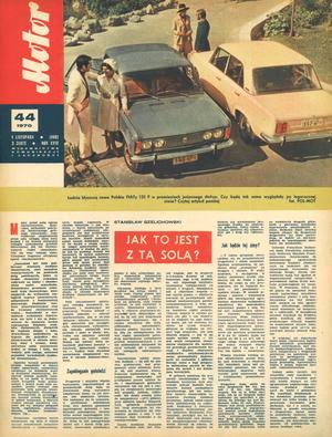 """""""Motor"""" nr 44 z 1 listopada 1970 r. /Motor"""