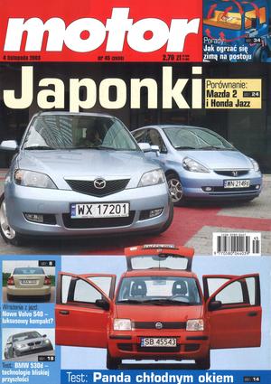 """""""Motor"""" nr 45 z 4 listopada 2003 r. /Motor"""