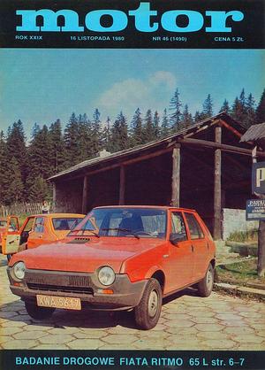 """""""Motor"""" nr 46 z 16 listopada 1980 r. /Motor"""