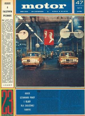 """""""Motor"""" nr 47 z 1974 r. /Motor"""
