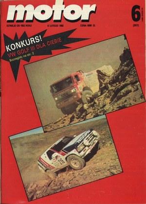 """""""Motor"""" nr 6 z 8 lutego 1992 r. /Motor"""