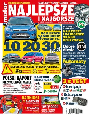 """""""Motor"""" Poradnik Kupującego - najlepsze i najgorsze 2018 /Motor"""