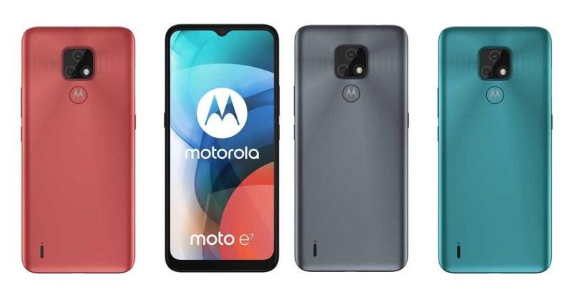 Motorola prezentuje smartfona Moto E7 /materiały prasowe