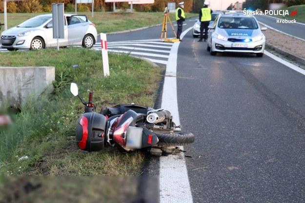 Motorowerzysta zginął w wypadku na obwodnicy Krzepic /Policja
