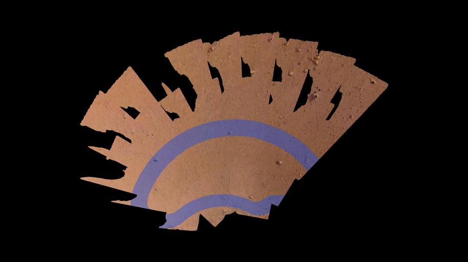 Mozaika 52 zdjęć, pokazujących otoczenie lędownika InSight / NASA/JPL-Caltech /Materiały prasowe