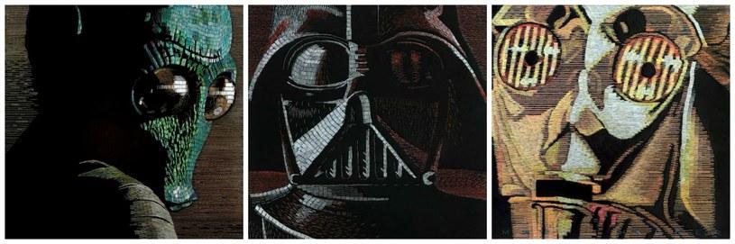 Mozaiki składają się z tysięcy kolorowych zszywek /facebook.com/The-Art-of-James-Haggerty /materiały prasowe