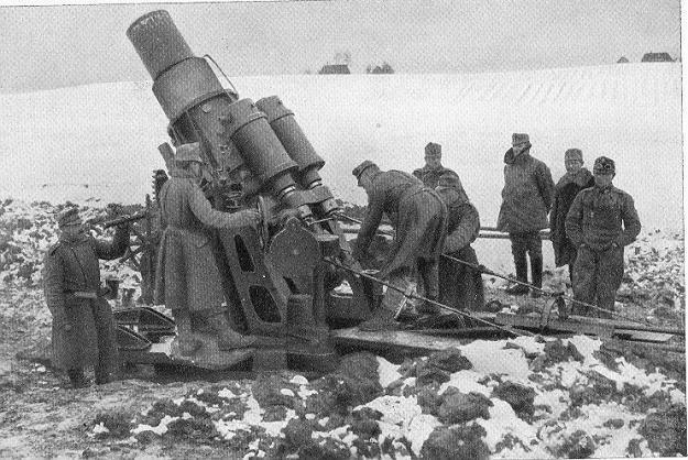 Moździerz kalibru 305 mm, najcięższy argument obrońców Krakowa w 1914 roku /Odkrywca