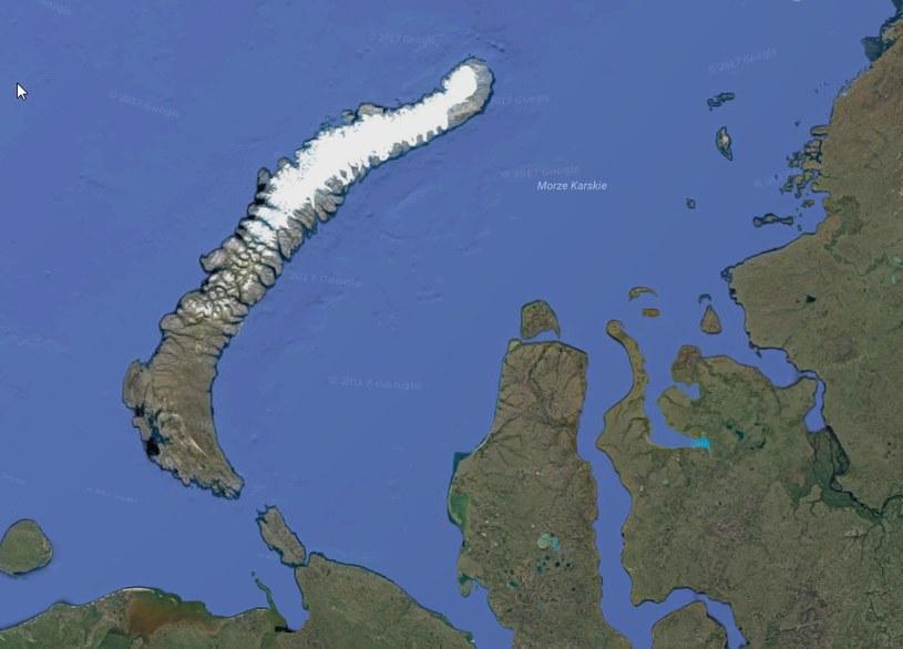 Możliwe, że radioaktywny jod mógł nadlecieć z okolic dawnego radzieckiego poligonu nuklearnego na archipelagu Nowa Ziemia. Fot. Google /materiały prasowe