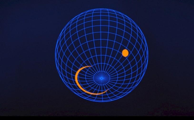 Możliwy wygląd południowego bieguna pulsara J0030+0451 / Fot: NASA's Goddard Space Flight Center /materiały prasowe