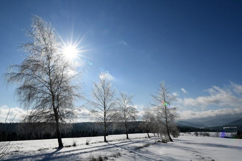 Mroźne i słoneczne przedpołudnie po intensywnych opadach śniegu /Darek Delmanowicz /PAP