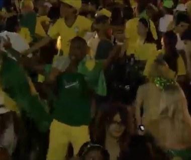 MŚ 2014: Reakcje kibiców Brazylii i Kolumbii po ćwierćfinałowym starciu obu ekip. Wideo