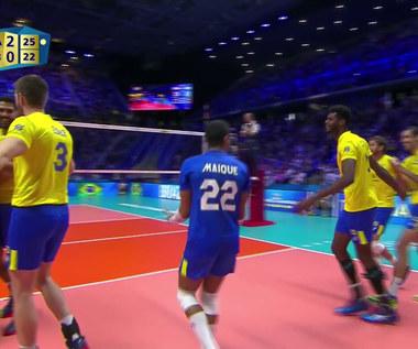 MŚ siatkarzy 2018. Brazylia - Serbia 3:0. Wideo