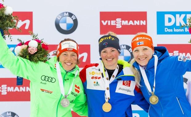 MŚ w biathlonie - Polki bez medalu, triumfowała Dorin Habert