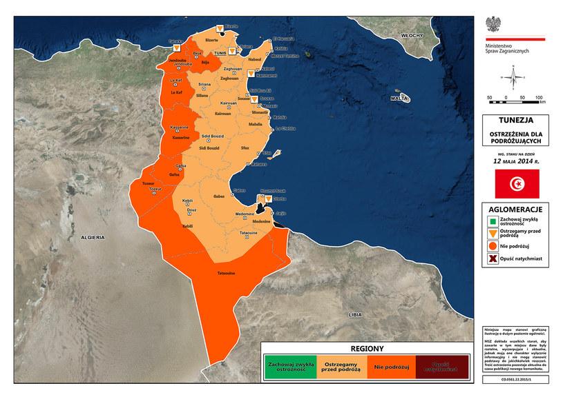MSZ odradza wyjazd do Tunezji/ źródło: msz.gov.pl /
