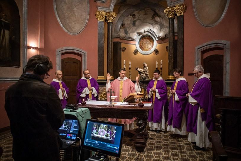 Msza św. w kościele Dominikanów w Gdańsku /Krzysztof Mystkowski/KFP /Reporter