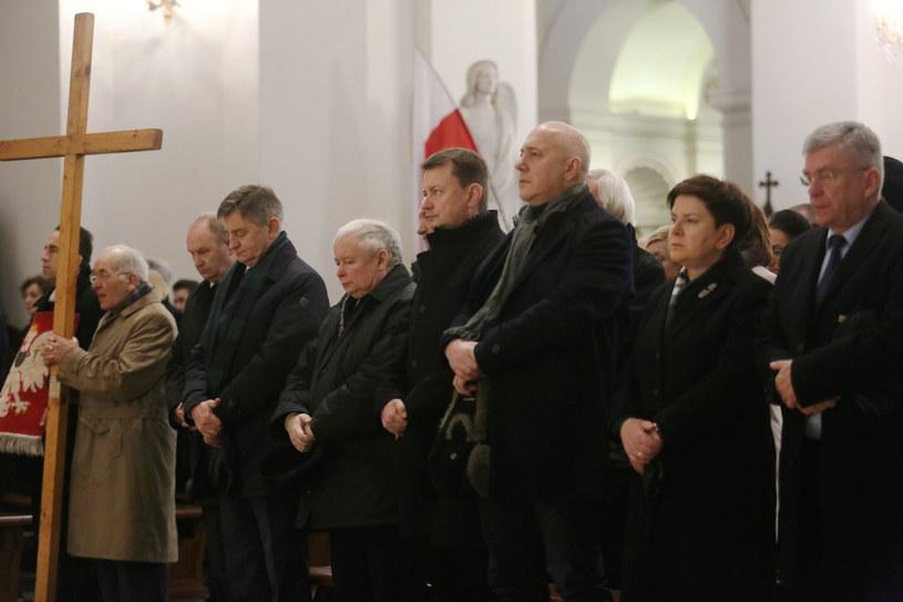 Msza święta dla upamiętnienia ofiar katastrofy smoleńskiej /Leszek Szymański /PAP