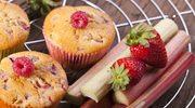 Muffiny malinowo-rabarbarowe