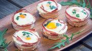 Muffiny z bekonem