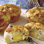Muffiny z serem i szynką