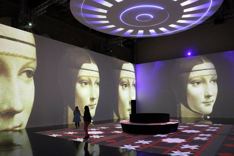 Multimedialna wystawa prac Leonarda da Vinci w Mediolanie /Dario Raimondi/ Splash News /East News