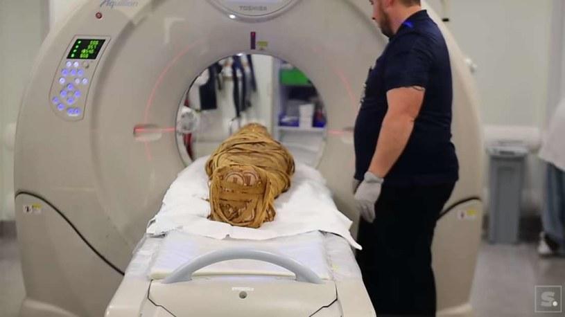 Mumia została poddana badaniu tomografii komputerowej /materiały prasowe