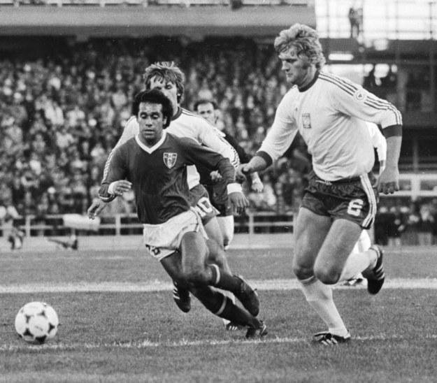Mundial '78. Mecz Polska - Meksyk. Jerzy Gorgoń na zdjęciu z prawej / Zbigniew Matuszewski /PAP