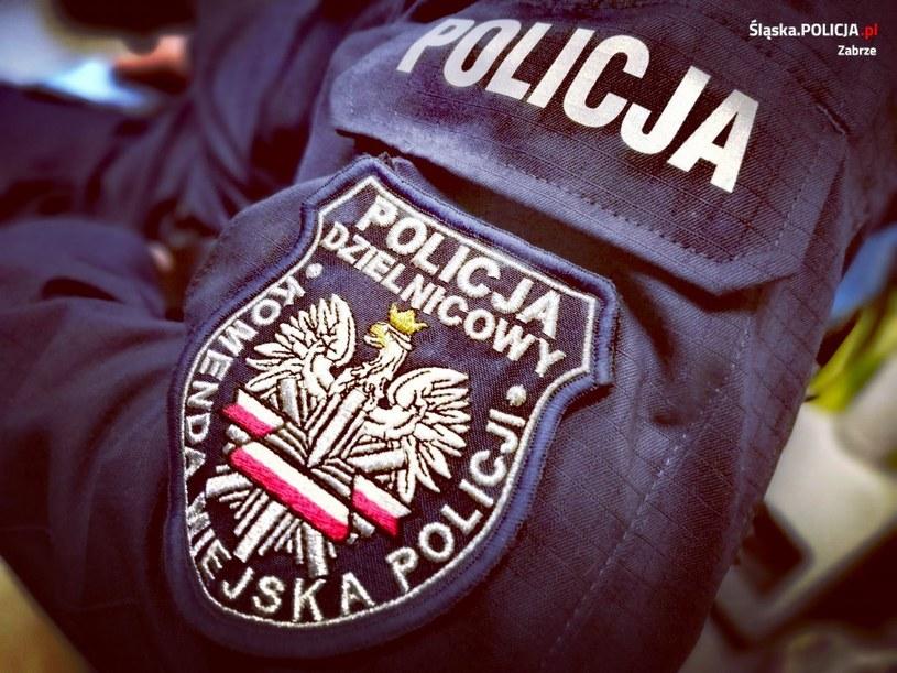 Mundurowi zaopiekowali się dziewczynką /KMP Zabrze /Policja
