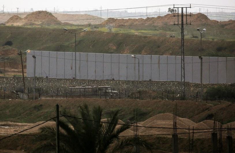 Mur na granicy Egiptu i Strefy Gazy /SAID KHATIB /AFP