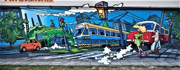 "Mural ""1977"" - os. Handlowe 7 w Nowej Hucie /RMF24"