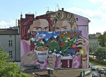 Mural Costa Coffee w Krakowie /materiały prasowe