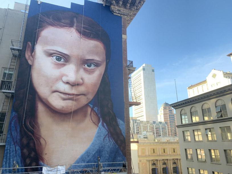 Mural jest wysoki na 18 metrów i szeroki na 9 metrów /Cover Images /East News
