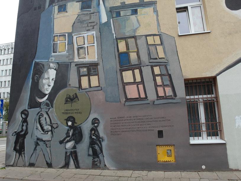 Mural poświęcony Halinie Szwarc /Krzysztof Szymczak/POLSKA PRESS /East News
